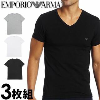 EMPORIO ARMANI メンズ tシャツ 3枚セット Vネック(Tシャツ/カットソー(半袖/袖なし))