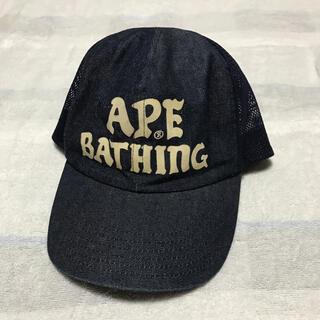 A BATHING APE - 【希少】初期 bape デニム メッシュキャップ