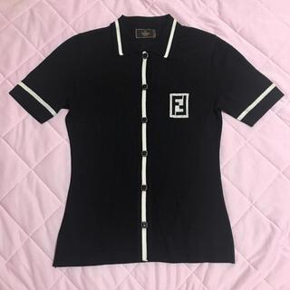 フェンディ(FENDI)のFENDI フェンディ シャツ ブラック(シャツ/ブラウス(半袖/袖なし))