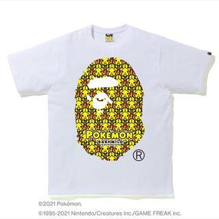 アベイシングエイプ(A BATHING APE)の激安2XL新品!BAPE X POKEMON 猿顔Tシャツ白(Tシャツ/カットソー(半袖/袖なし))