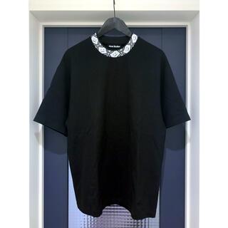 アクネ(ACNE)の21SS Acne Studios フェイスモチーフ入りモックネックTシャツ(Tシャツ/カットソー(半袖/袖なし))