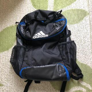 adidas - アディダスサッカー用デイパック リュック  黒色×青