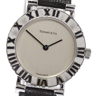 ティファニー(Tiffany & Co.)のティファニー アトラス 革ベルト L0640 クォーツ レディース 【中古】(腕時計)