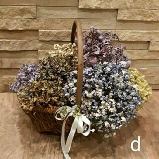 くしゅくしゅ紫陽花ドライフラワー 自然色 (ハイドランジア等) 8本(ドライフラワー)