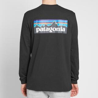 パタゴニア(patagonia)のPatagonia ロンT Long Sleeve P-6 Logo ブラックM(Tシャツ/カットソー(七分/長袖))