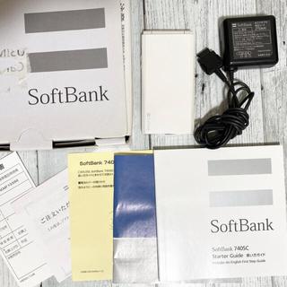 サムスン(SAMSUNG)の美品ソフトバンク 740SC サムスン SIMフリー化で海外使用可 携帯電話本体(携帯電話本体)