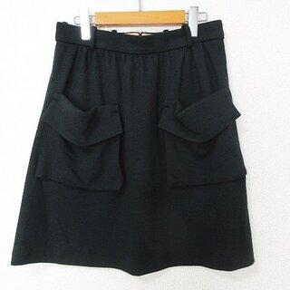 クロエ(Chloe)のCHLOE 美品 スカート ひざ丈 フレア ウール 国内正規品 緑 36 W74(ひざ丈スカート)