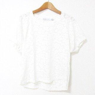 シーバイクロエ(SEE BY CHLOE)のSEE BY CHLOE カットソー Tシャツ  半袖 花柄 国内正規品 38(カットソー(半袖/袖なし))