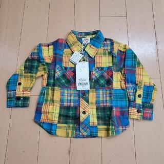 ブリーズ(BREEZE)の90size チェックシャツ(ブラウス)