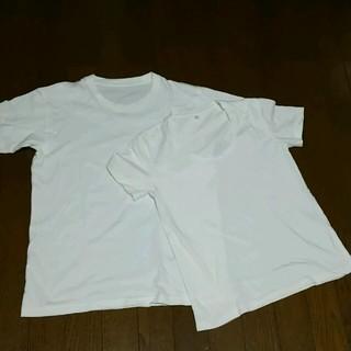 ムジルシリョウヒン(MUJI (無印良品))のmanaoさま専用!3回使用!無印良品&UNIQLO白Tシャツセット(S)(Tシャツ(半袖/袖なし))