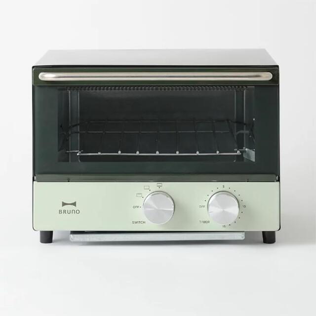 I.D.E.A international(イデアインターナショナル)のBRUNO ダブルヒータートースター カラー:オリーブ スマホ/家電/カメラの調理家電(調理機器)の商品写真