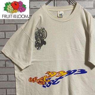90s 古着 フルーツオブザルーム シングルステッチ  USA製 ゆるだぼ(Tシャツ/カットソー(半袖/袖なし))