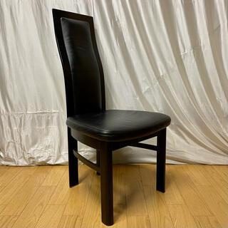 カリモクカグ(カリモク家具)の【karimoku】食堂椅子 CE3505BB 本革張り ('01年製)(ダイニングチェア)