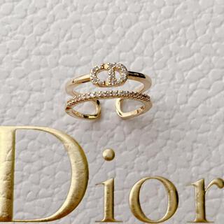 ディオール(Dior)の大人気♡ロゴリング ラインストーン✨(リング(指輪))