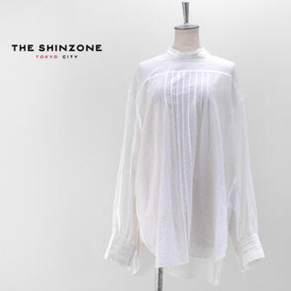 シンゾーン(Shinzone)のシンゾーンSHINZONE ハイネック フリル ブラウス 34(シャツ/ブラウス(長袖/七分))