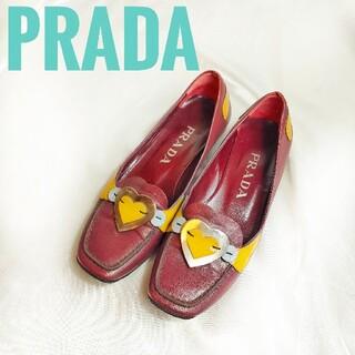プラダ(PRADA)の【一点物】プラダ PRADA 高級 ハート プレート ローファー (ローファー/革靴)