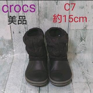 クロックス(crocs)の美品 クロックス ブーツ レインブーツ 長靴 C7 15cm(長靴/レインシューズ)