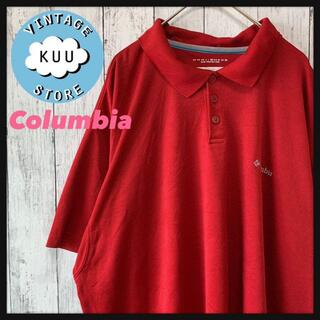 Columbia - アメリカ古着 Columbia コロンビア ワンポイントロゴ刺繍 半袖ポロシャツ