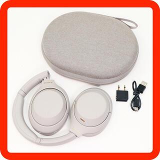 ソニー(SONY)の美品!SONY WH-1000XM4 シルバー ワイヤレスノイキャンヘッドホン (ヘッドフォン/イヤフォン)