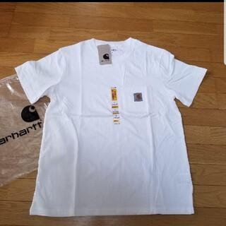 カーハート(carhartt)のCarhartt 白 L カーハート 新品 ポケット ポケット Tシャツ(Tシャツ/カットソー(半袖/袖なし))