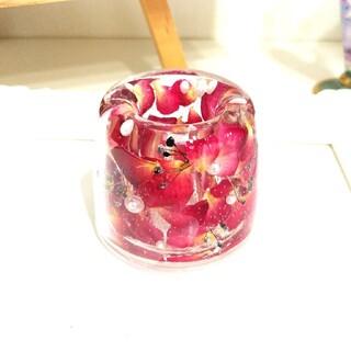 【Lサイズ】NO.309 ミニ薔薇花弁in✨固まるハーバリウムペン立て(ドライフラワー)
