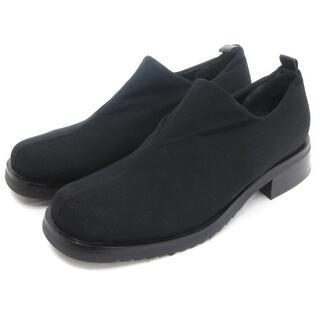 アテストーニ(a.testoni)のア・テストーニ スリッポン シューズ スクエアトゥ 黒 35.5 靴(スニーカー)