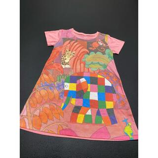 Design Tshirts Store graniph - graniph グラニフぞうのエルマーワンピ
