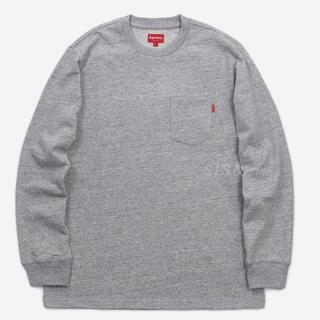 Supreme - supreme l/s pocket tee heather gray XL