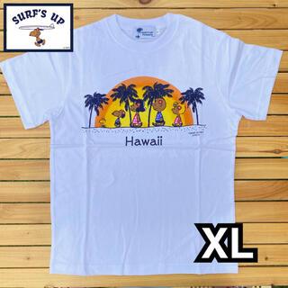 XLサイズ 新品 モニホノルル 日焼けスヌーピー Tシャツ ハワイ限定(Tシャツ/カットソー(半袖/袖なし))