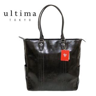 エース(ace.)のultima TOKYO レザー トートバッグ ビジネスバッグ ブラック(ビジネスバッグ)