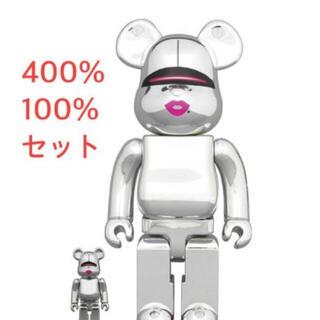 メディコムトイ(MEDICOM TOY)のBE@RBRICK SORAYAMA 2G SILVER Ver 100&400(その他)