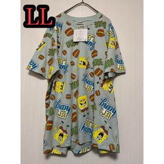 スポンジボブ Tシャツ LLサイズ 総柄 新品(シャツ)