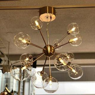 13灯 ペンダント 照明 ライト インテリア ゴールド美容室 店舗 シャンデリア(天井照明)