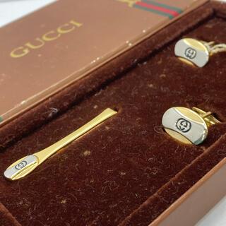 Gucci - 美品 GUCCI オールドグッチ カフス ネクタイピン タイバー ヴィンテージ