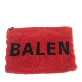 バレンシアガ(Balenciaga)のバレンシアガ 492681 ロゴ ボア シアリングポーチ クラッチバッグ レッド(クラッチバッグ)