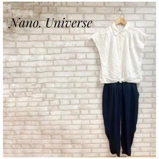 ナノユニバース(nano・universe)のnano universe レディース オールインワン FREE 白 ネイビー(オールインワン)
