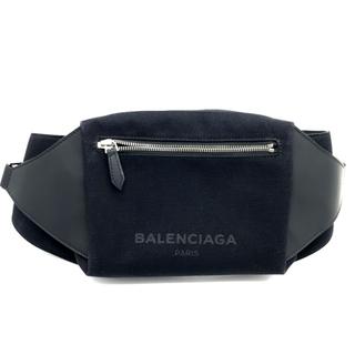 バレンシアガ(Balenciaga)のバレンシアガ433625ロゴ ボディバッグ ブラック キャンバス×レザー メンズ(ボディーバッグ)
