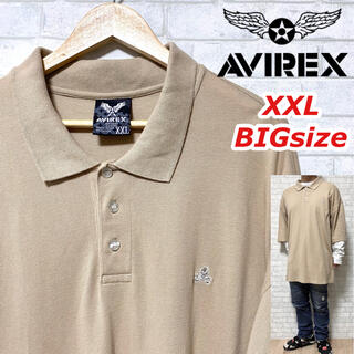 アヴィレックス(AVIREX)のAVIREX アヴィレックス 超ビッグシルエット ポロシャツ スカル刺繍 鹿の子(ポロシャツ)