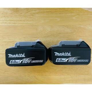 マキタ(Makita)の純正 マキタ バッテリー 18V 6.0Ah BL1860B  2個セット(バッテリー/充電器)