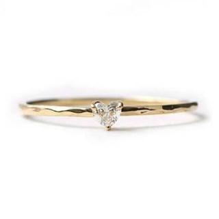 アーカー(AHKAH)のAHKAH カリーニョハートダイヤ ピンキーリング(リング(指輪))