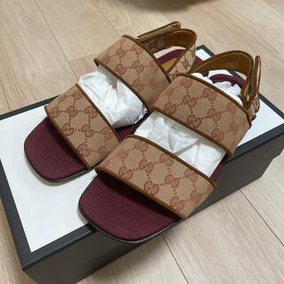 グッチ(Gucci)のGUCCI ストラップ サンダル GG 正規品(サンダル)