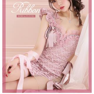 エンジェルアール(AngelR)のROBEdeFLEURS♡ジュエリー×リボンタイトミニドレス(ナイトドレス)