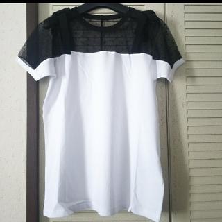 レッドヴァレンティノ(RED VALENTINO)のREDVALENTINOリボンレーストップス新品(Tシャツ(半袖/袖なし))