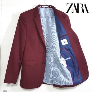 ZARA - 【美品】ZARA ザラ テーラードジャケット ボルドー M