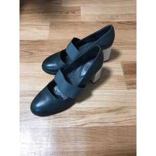 カンペール(CAMPER)の【 takiko様専用】CAMPER Kara パンプス 靴 太めヒール 黒 (ハイヒール/パンプス)