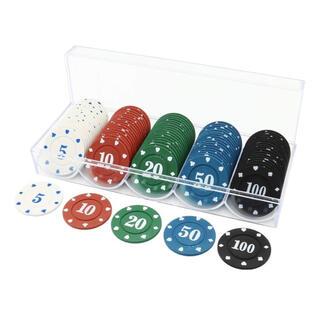 カジノチップセットポーカーブラックジャックコインおもちゃ チップ テーブルゲーム(トランプ/UNO)