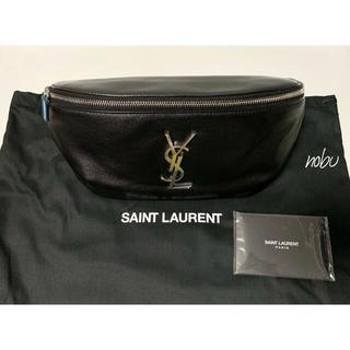 サンローラン(Saint Laurent)の新品【 Saint Laurent 】レザー クロス ボディバッグ ブラック(ボディーバッグ)