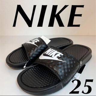 ナイキ(NIKE)のNIKE ナイキ  ウィメンズ レディース ベナッシ サンダル 黒 No2324(サンダル)