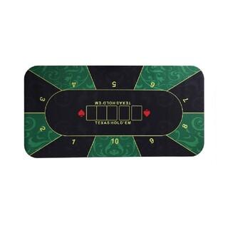 ポーカーマット ラバーフォームカジノマット 120×60cm 緑(トランプ/UNO)