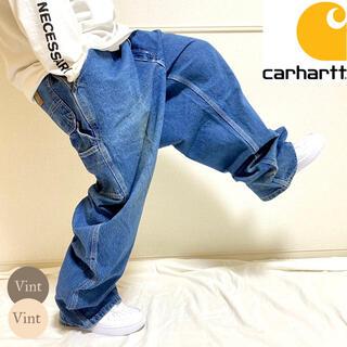 カーハート(carhartt)のメキシコ製 カーハート ストーンウォッシュ デニム ペインター バギー パンツ(デニム/ジーンズ)